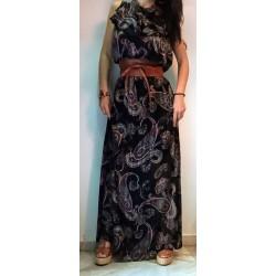 Dress black εμπριμέ