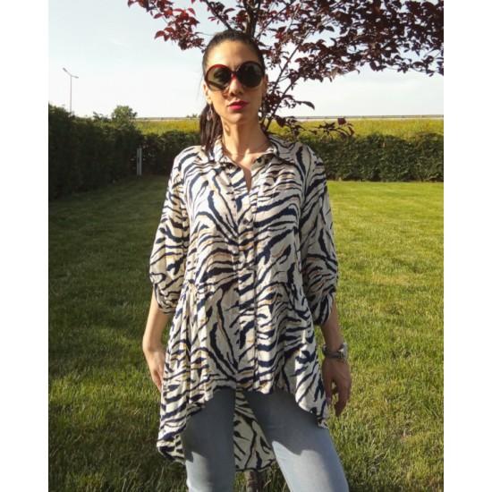 Animal print shirt silky
